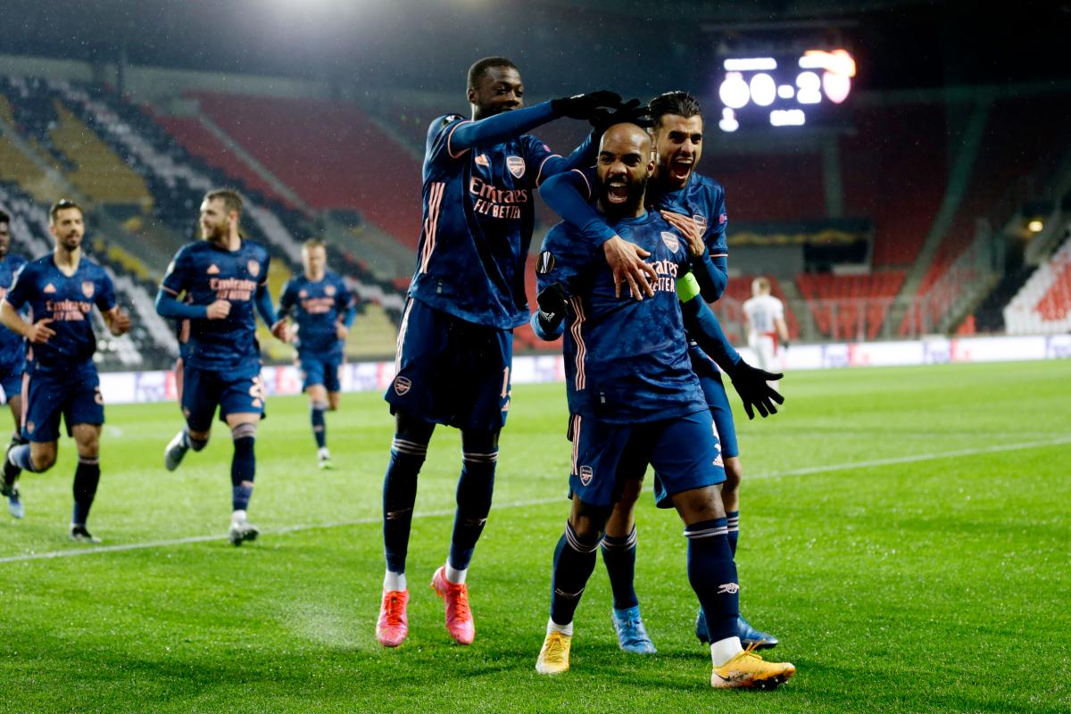 อาร์เซนอลเข้าสู่รอบรองชนะเลิศหลังจากชัยชนะอันน่าสยดสยองที่สลาเวีย  ภาพ: Reuters
