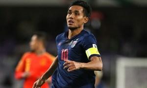 Thái Lan mất tiền đạo chủ lực ở vòng loại World Cup