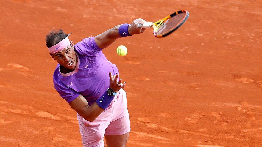 Nadal chỉ đạt tỷ lệ giao bóng một trong sân 59%. Ảnh: ATP.