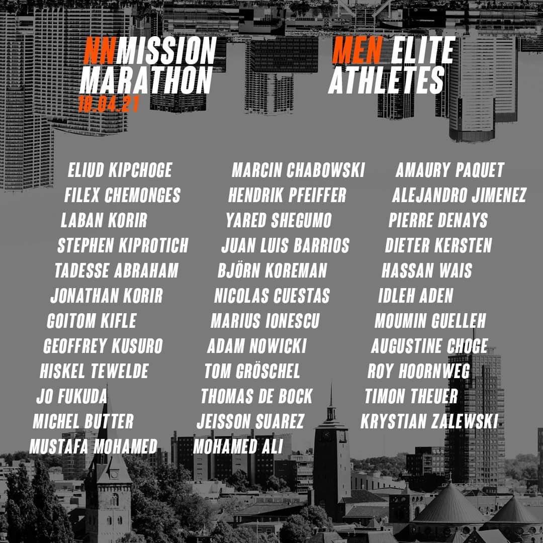 Danh sách các chân chạy elite tranh tài cùng Kipchoge tại NN Mission Marathon.