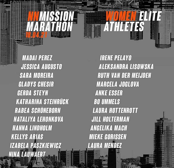 Danh sách các VĐV nữ tranh tài tại NN Mission Marathon.