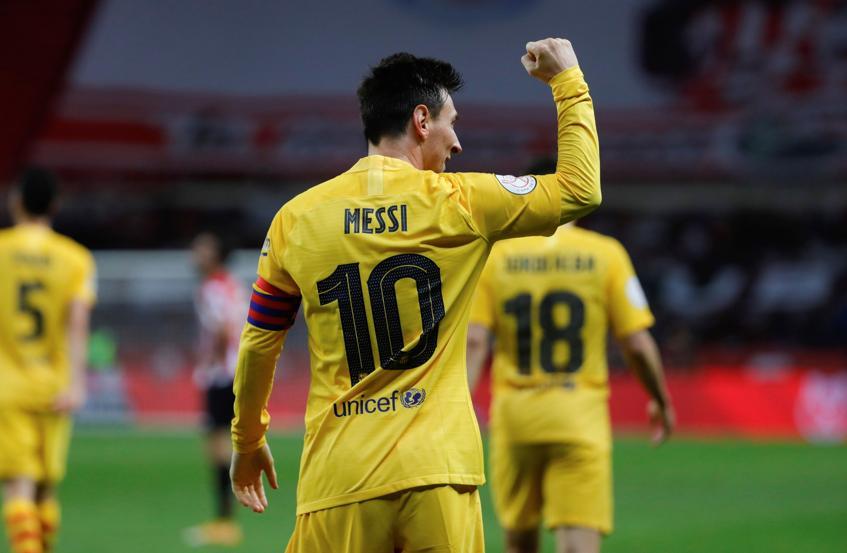Messi sở hữu thêm một kỷ lục ghi bàn ở tuổi 33. Ảnh: EFE.