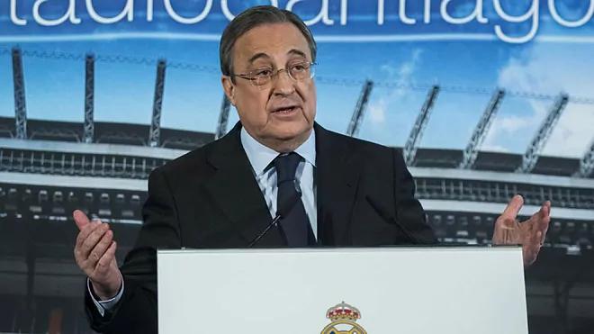 Perez menjabat sebagai Presiden Liga Super pertama.  Foto: Marca.