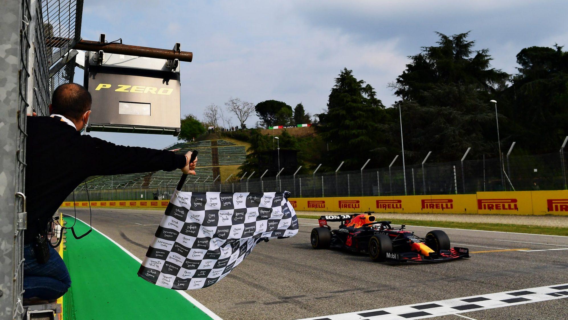 Verstappen finis pertama dalam balapan di Italia.  Foto: Formula 1
