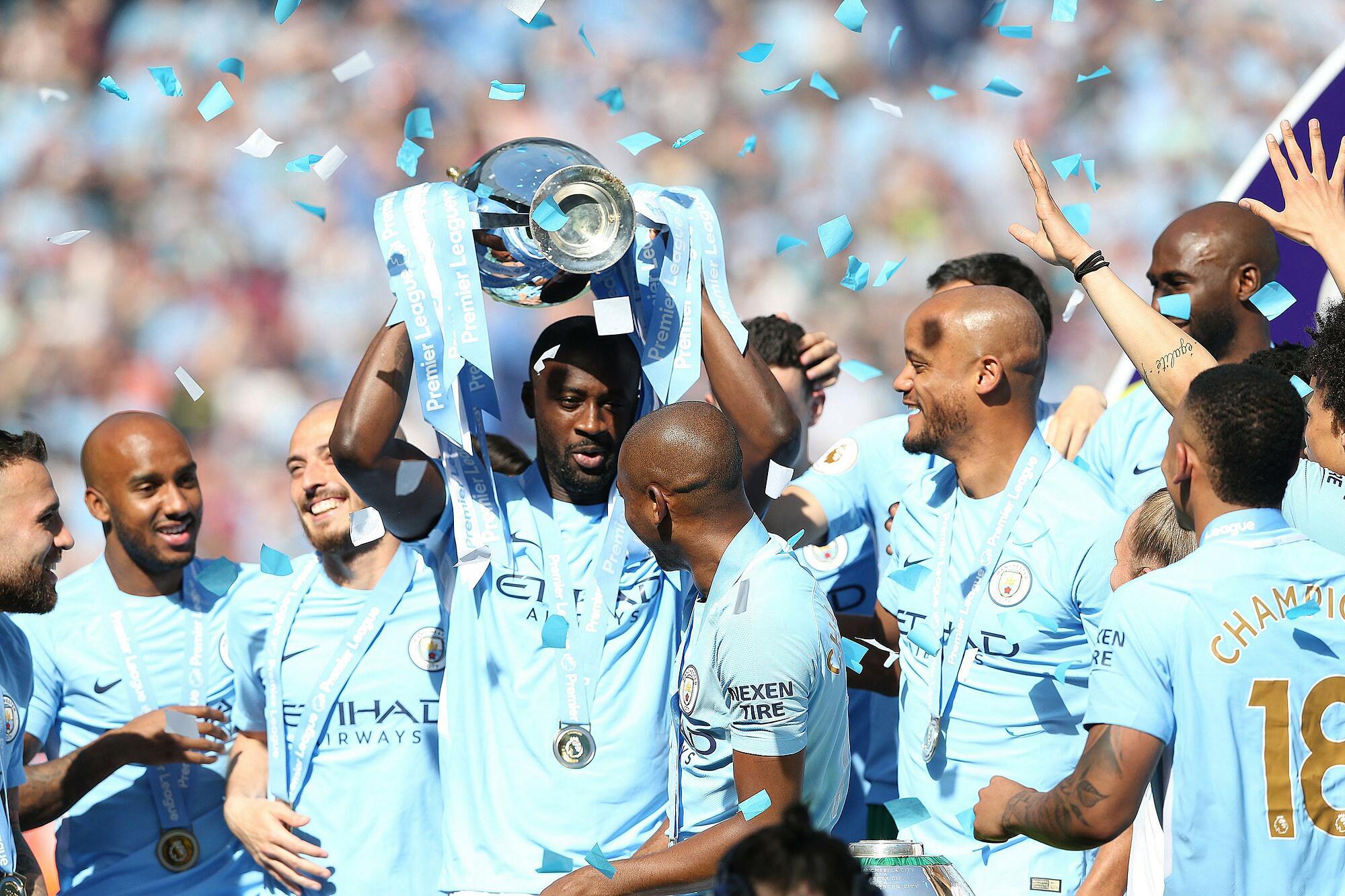 Yaya Toure memenangkan tujuh gelar bersama Man City, termasuk tiga gelar Liga Inggris.  Foto: EPA