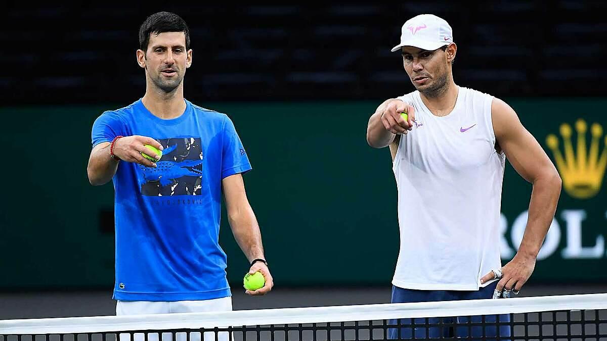 Djokovic dan Nadal memiliki total 38 Grand Slam.  Foto: ATP.