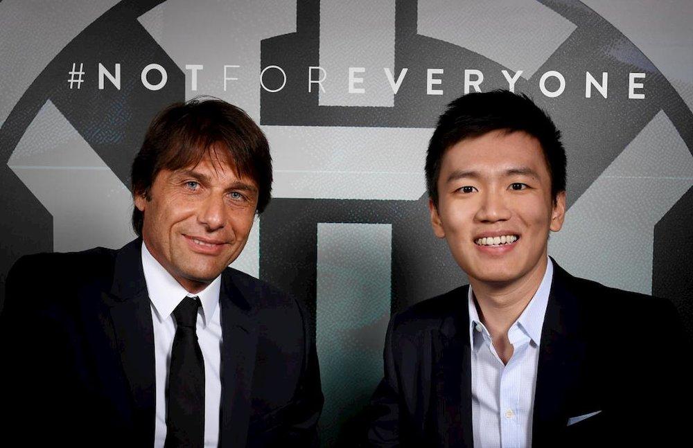 Inter melakukan sublimasi di bawah kepemimpinan ketua Steven Zhang dan pelatih Conte.  Foto: Inter.it