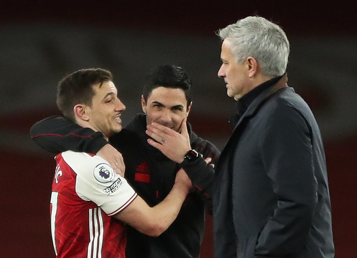 Mourinho bị cả bốn CLB gần nhất của ông sa thải, từ Real, Chelsea, Man Utd và bây giờ là Tottenham. Ảnh: Reuters.
