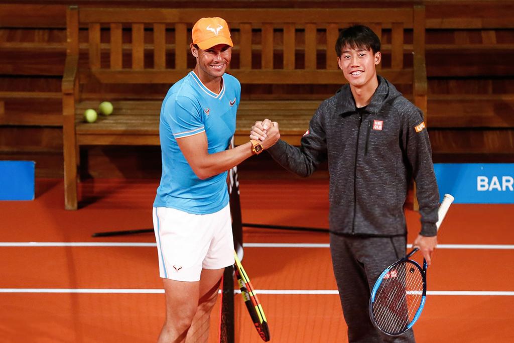 Bertemu Nadal di lapangan tanah liat dianggap sebagai tantangan yang sulit bagi Nishikori.  Foto: AFP