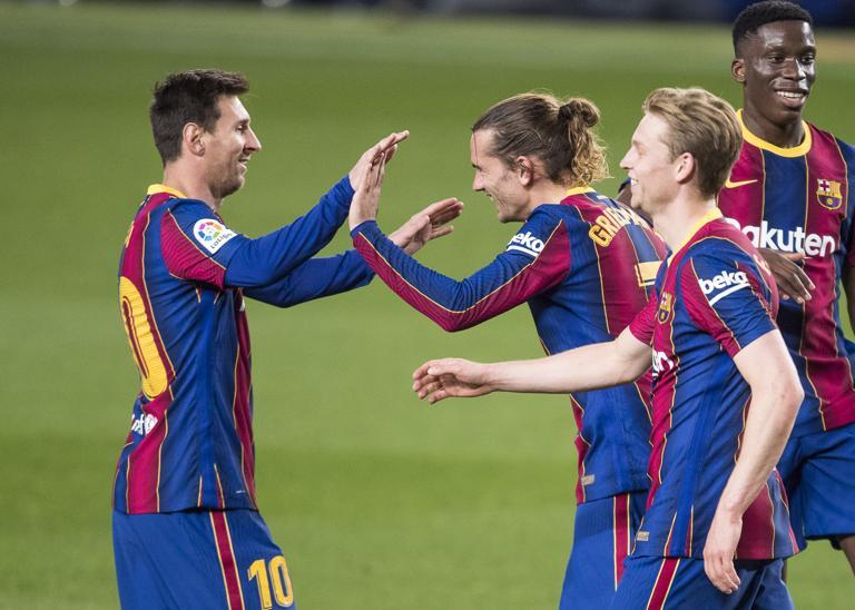 ความลงตัวระหว่าง Messi และ Griezmann ถือเป็นอีกหนึ่งสัญญาณแห่งความสุขของ Barca  ภาพ: Mundo Deportivo