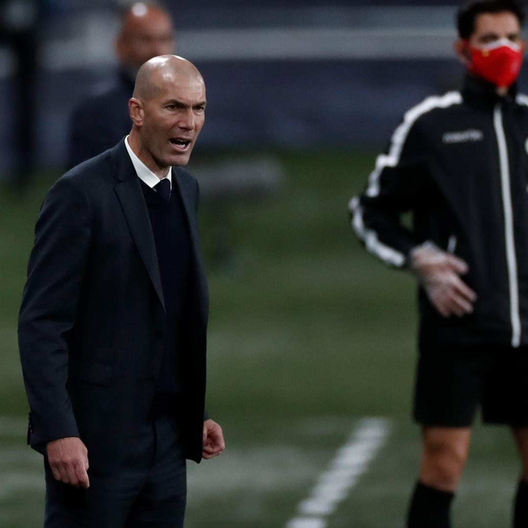 Zidane melihat tersingkirnya Real dari semifinal Liga Champions musim ini sebagai proposisi yang absurd.  Foto: Twitter / Real Madrid