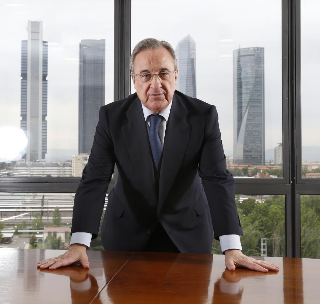 Perez áp dụng cùng một nguyên tắc quản trị cho cả đế chế xây dựng ACS của ông lẫn Real Madrid. Ảnh: AS