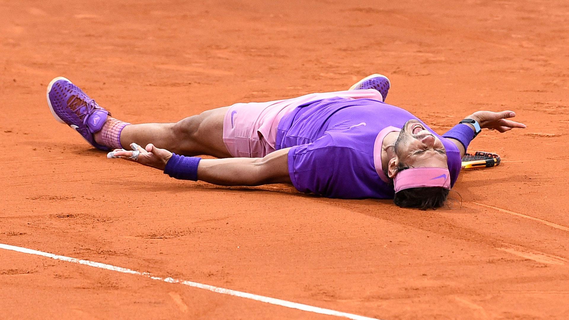 Nadal bersemangat untuk memenangkan final Barcelona Open pada 25 April.  Foto: ATP