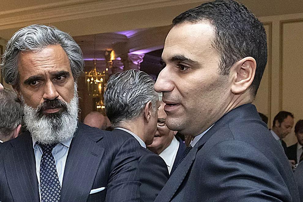 Laghrari (phải) là cánh tay phải của Perez trong dự án Super League. Ảnh: El Mundo
