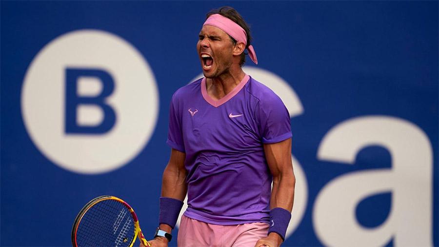 Nadal thắng 87 trong số 124 trận chung kết đã dự, trên mọi mặt sân. Ảnh: ATP.