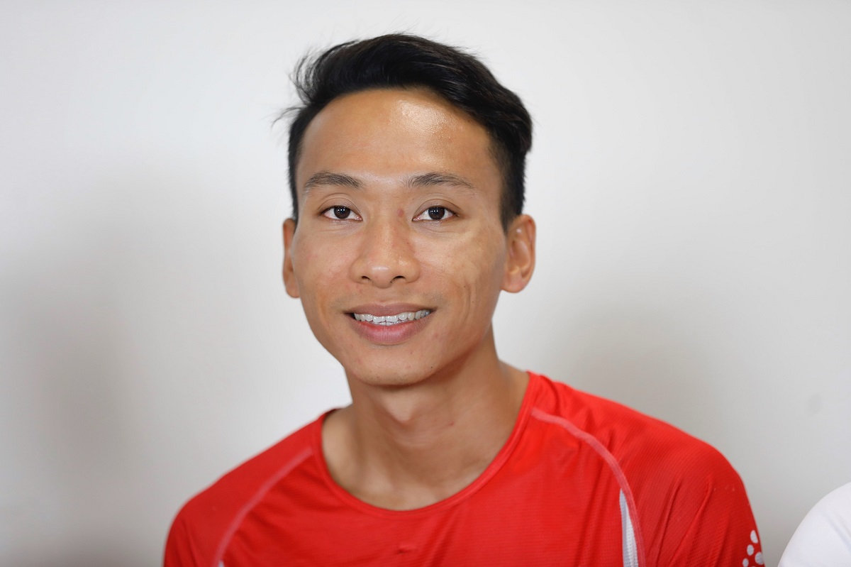 Pelari Le Xuan Hop.  Foto: Huu Khoa.