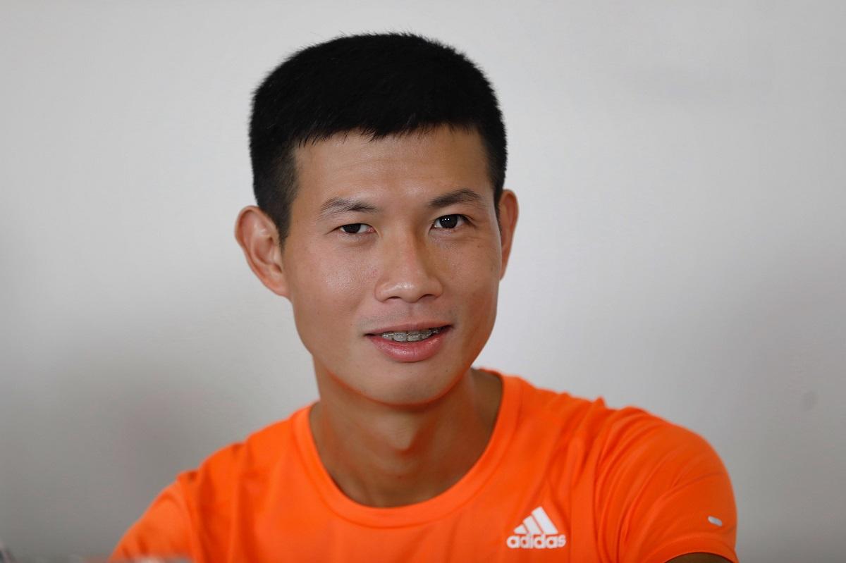 Pelari Dang Anh Quyet.  Foto: Huu Khoa.