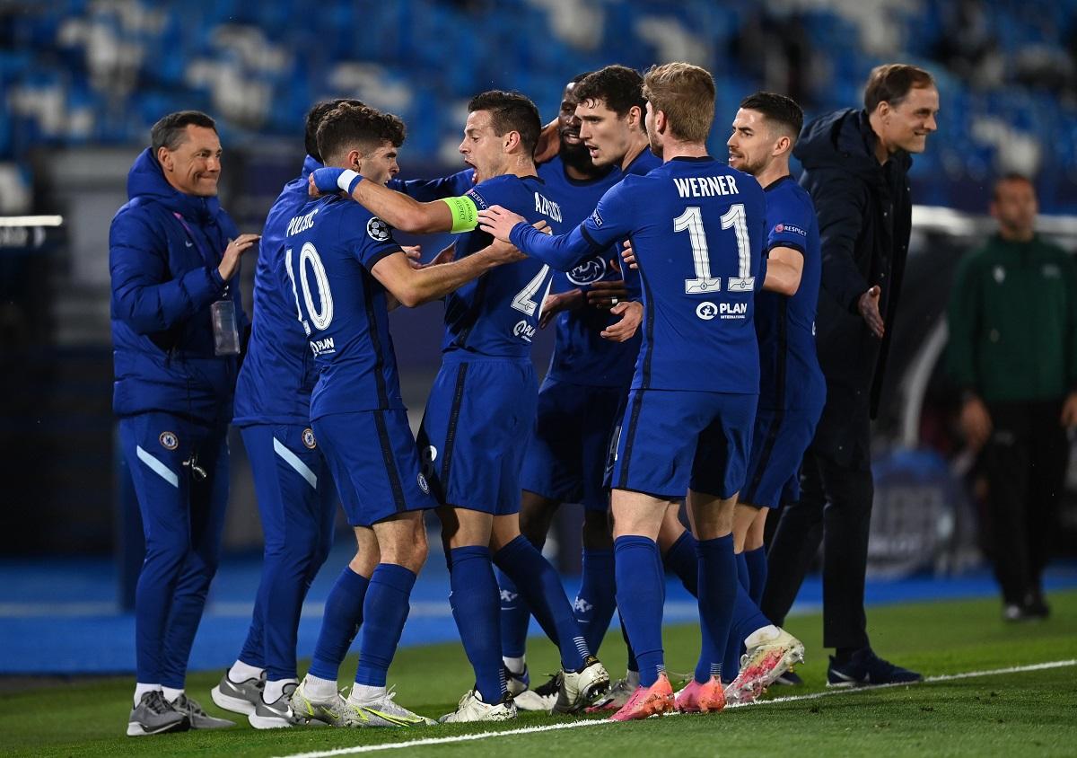 Chelsea akan mencapai final jika mereka menghentikan Real mencetak gol di leg kedua berikutnya seminggu kemudian.  Foto: AP.