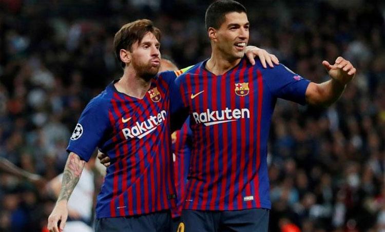 Messi và Suarez không thể chơi cùng nhau ở cấp đội tuyển, thậm chí thường xuyên đối mặt tại các giải đấu khu vực Nam Mỹ. Ảnh: Reuters.
