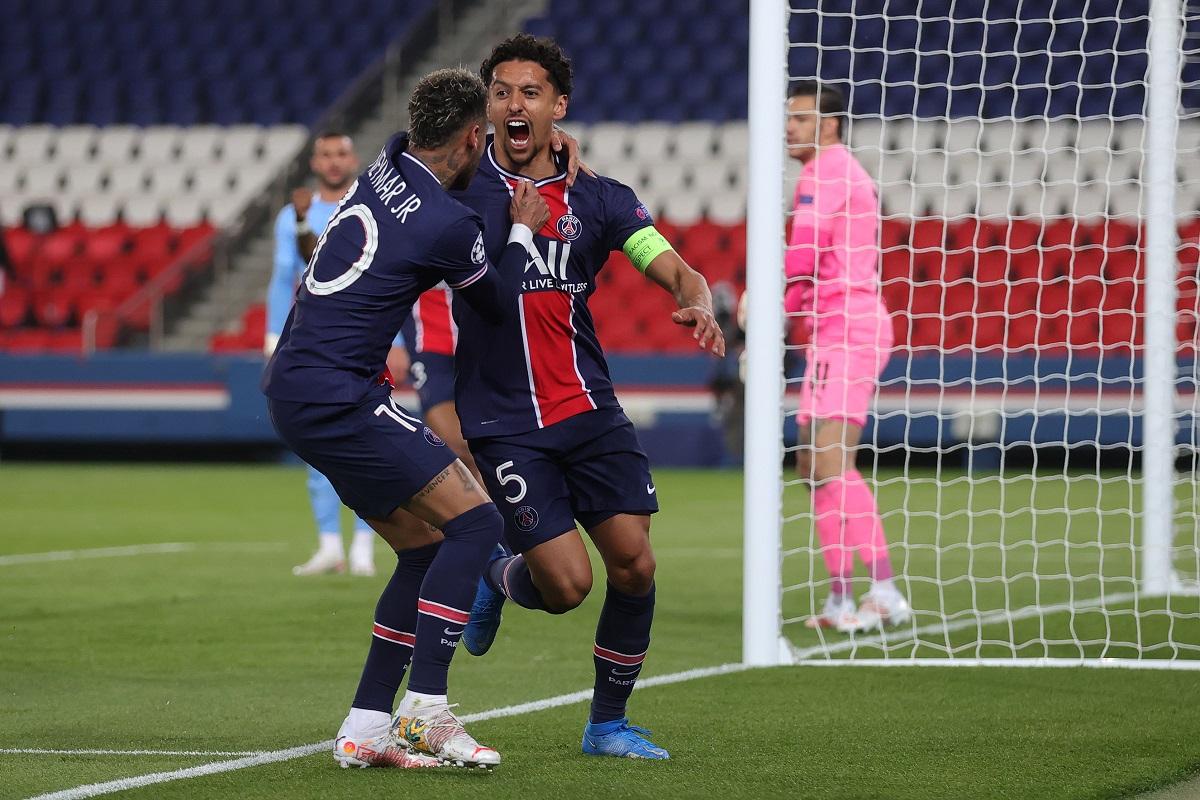Marquinhos là một trong những cầu thủ chơi tốt nhất bên phía PSG. Ảnh: AP.