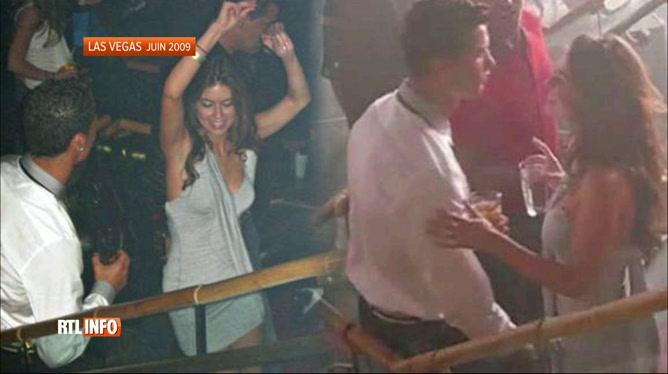Cảnh Mayorga và Ronaldo thân mật trong hộp đêm tại Las Vegas trước khi vụ việc xảy ra.