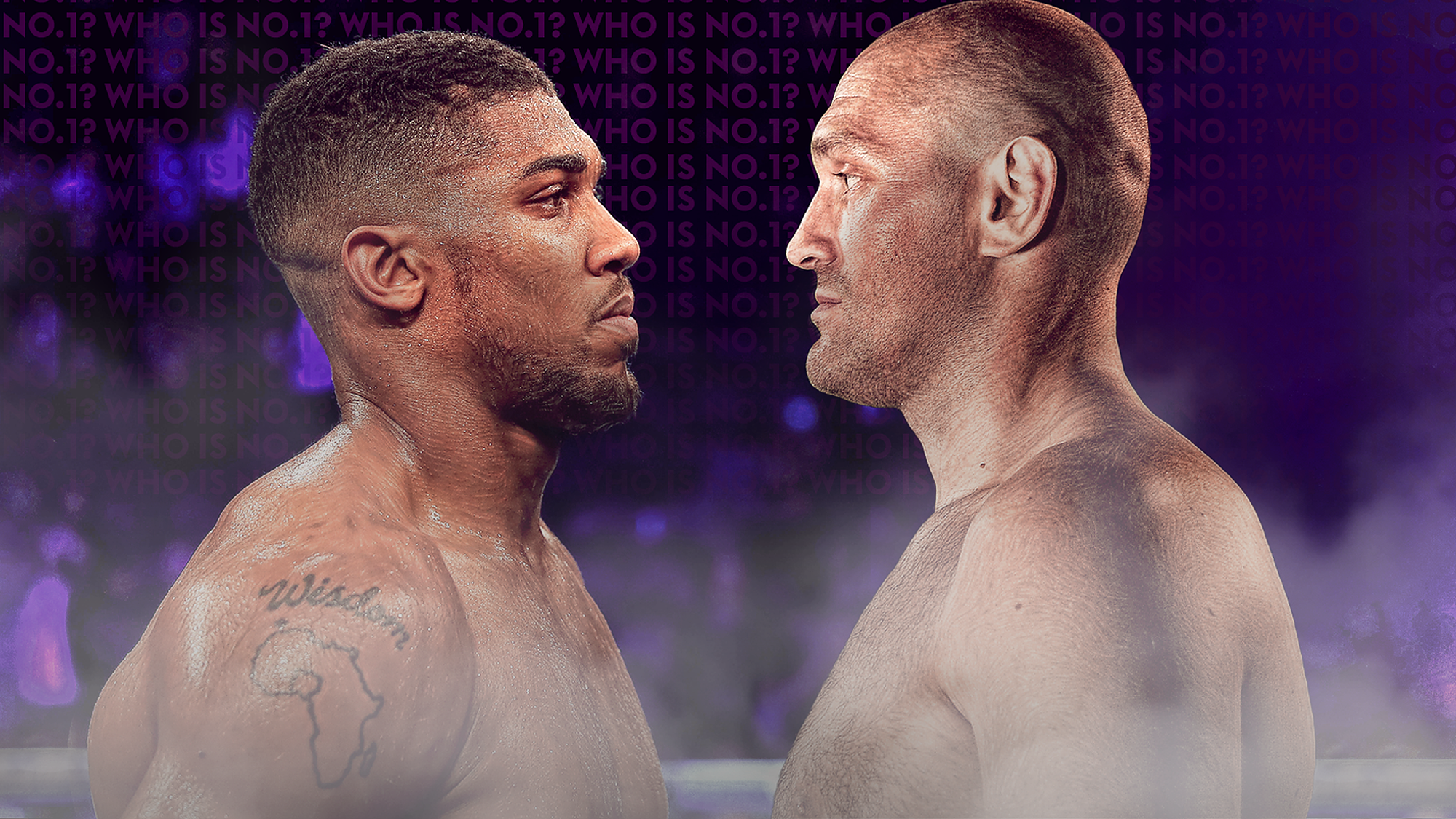 Joshua (left) - Fury is currently the most anticipated heavyweight boxing match.  Photo: Sky