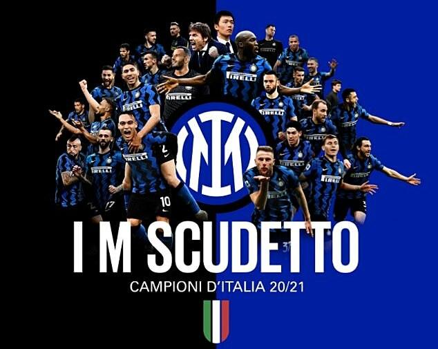 Foto tersebut dipilih untuk merayakan kejuaraan Serie A Inter setelah 11 tahun.  Foto: Inter Milan