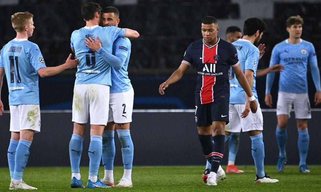 Mbappe và PSG đứng trước thử thách lớn khi làm khách trên sân Etihad của Man City. Ảnh: AFP.