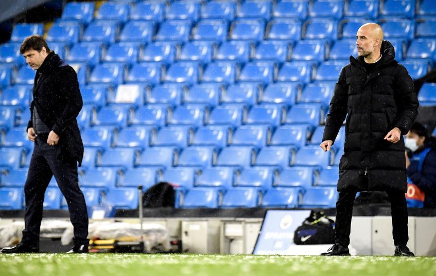 Pep Guardiola mengalahkan Mauricio Pochettino di kedua semifinal.  Foto: EFE.