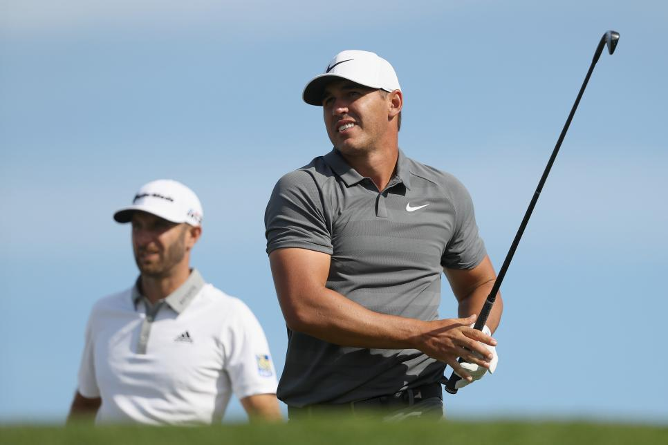 Stars like Dustin Johnson, Brooks Koepka (right) will be permanently expelled by the PGA Tour if they accept the Premier Golf League.  Photo: AFP