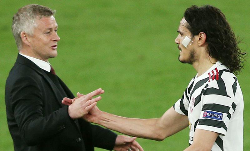 Mới đá bốn trận nhưng Cavani là chân sút hàng đầu của Solskjaer ở Europa League với năm bàn. Ảnh: Goal.