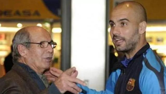 Tuan Valenti dan putranya, pelatih Pep Guardiola.  Foto: Marca.