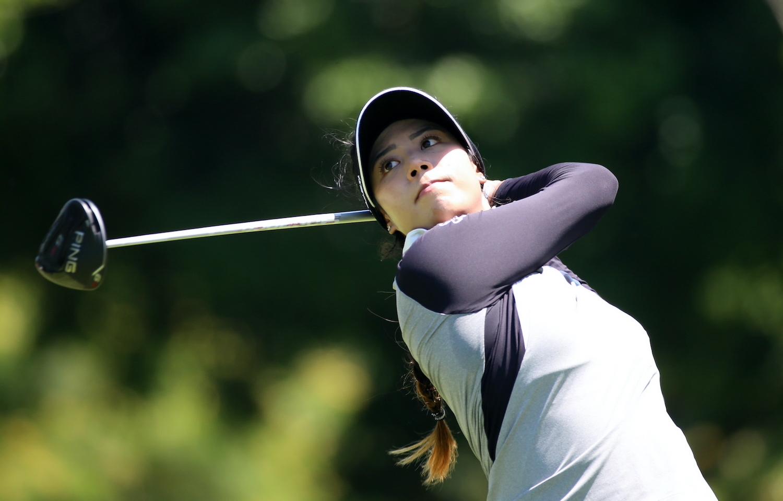 Patty Tavatanakit watched the second round of the Honda LPGA Thailand kick-off on Friday.  Photo: Bangkok Post