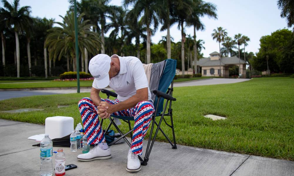 Stecklein sits outside of the Legends golf course.  Photo: USA Today