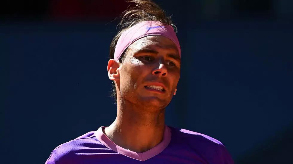 Nadal kalah dalam pertandingan ke-13 di Madrid.  Foto: AP.