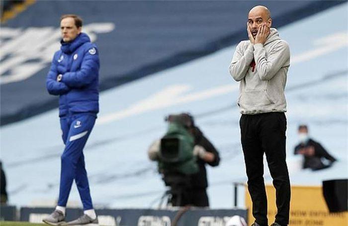 Guardiola một lần nữa thua Tuchel trong một cuộc đối đầu trực tiếp. Ảnh: Reuters.
