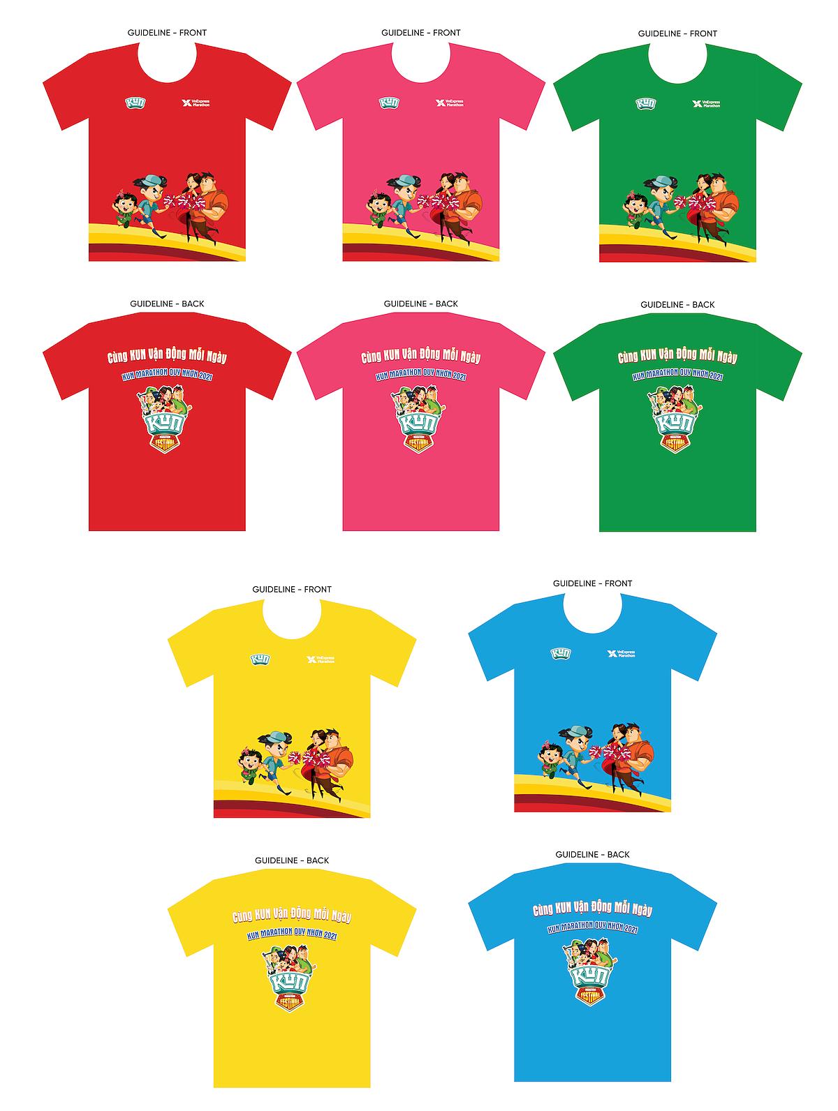 Rancang 5 warna sesuai dengan 5 kelompok usia dari 6 hingga 10 tahun.