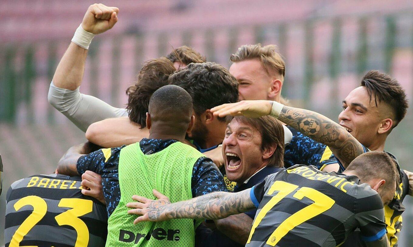 Dưới sự lèo lái của Conte, Inter lần đầu tiên sau 11 năm vô địch Serie A. Ảnh: ANSA