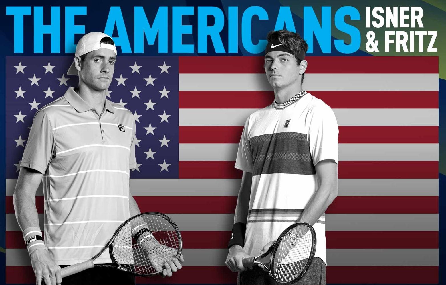 Isner và Fritz là hay tay vợt nam tốt nhất của Mỹ lúc này, nhưng đã hai năm chưa có chức vô địch nào. Ảnh: ATP.