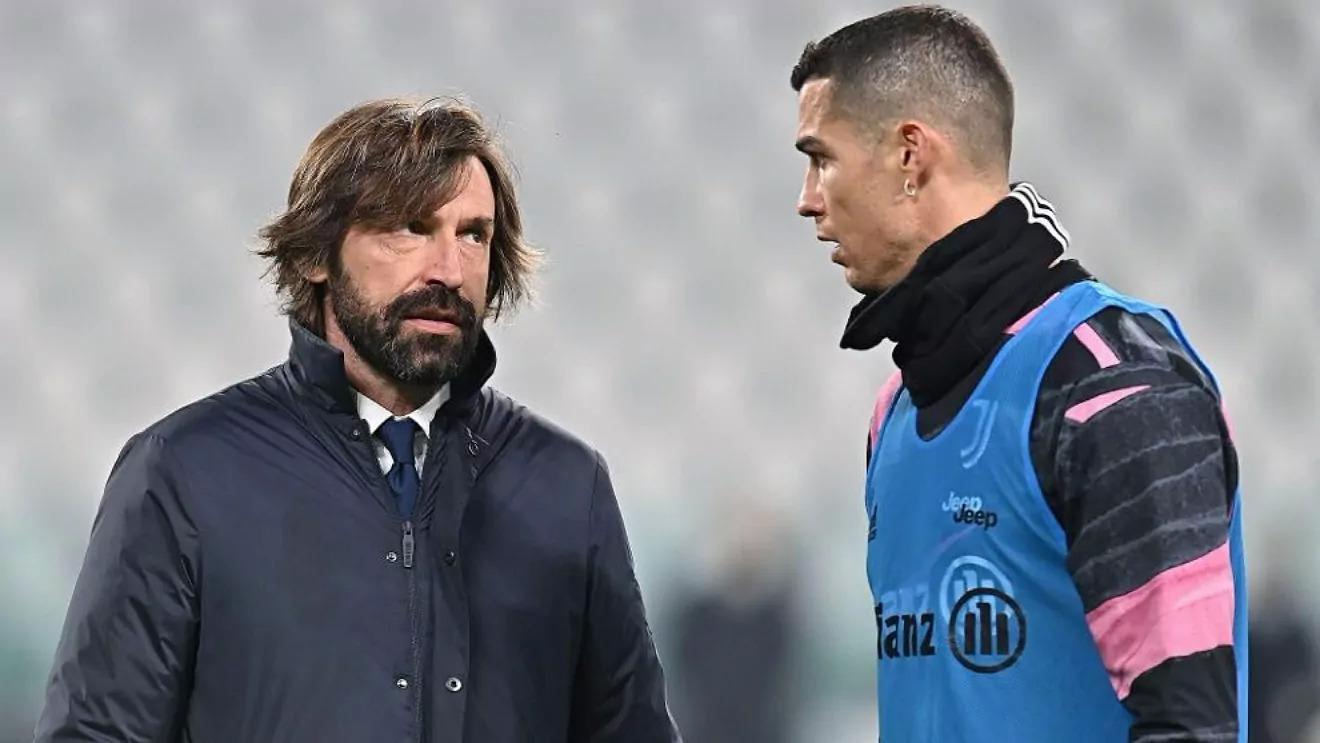 Terlalu banyak tanda tanya besar yang diajukan untuk Pirlo, Ronaldo dan Juventus dengan kenyataan kejam musim ini.  Foto: EFE