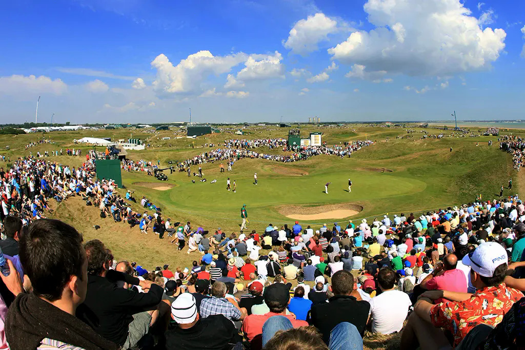 Welcoming audiences back to Royal St George watching golfers compete is a priority for The Open 2021. Photo: The Open