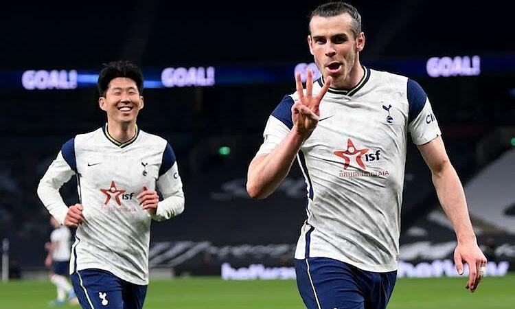 Bale ghi ba bàn trong trận Tottenham thắng Sheffield United 4-0 hôm 3/5. Ảnh: Reuters.