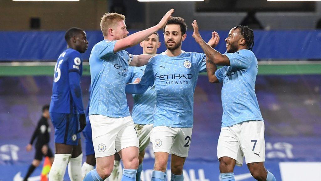 Các tiền vệ và tiền đạo cánh Man City khiến khái niệm trung phong trở nên lung lay. Ảnh: Reuters.