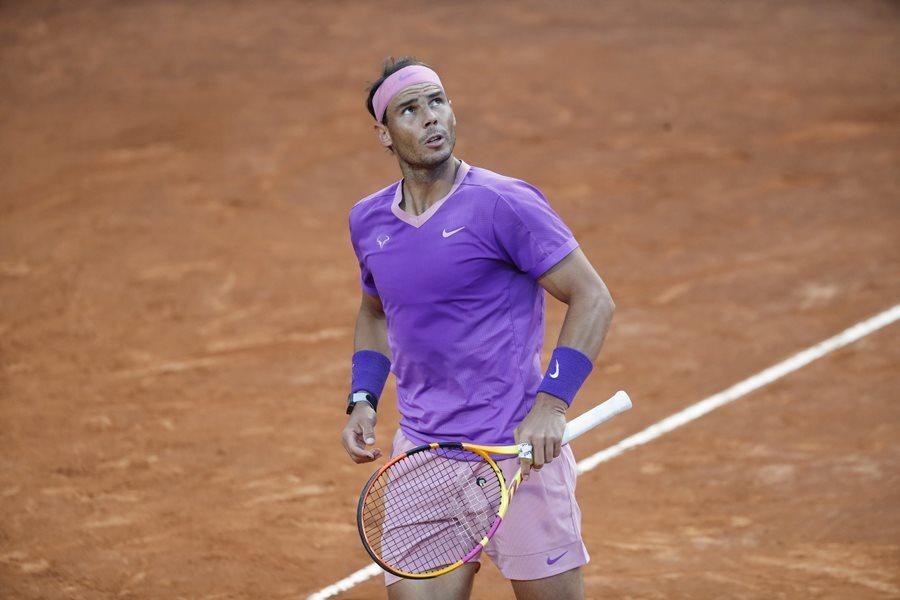 Nadal memulai awal yang buruk di Rome Masters 2021. Foto: ATP.