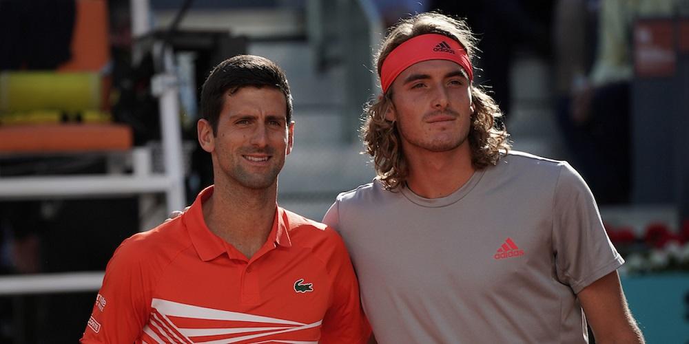Djokovic đã thắng Tsitsipas hai lần trên sân đất nện. Ảnh: ATP.