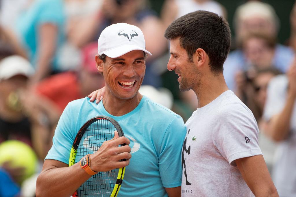 Nadal memiliki sembilan gelar Rome Masters, dan Djokovic telah memenangkan lima gelar.  Foto: ATP.