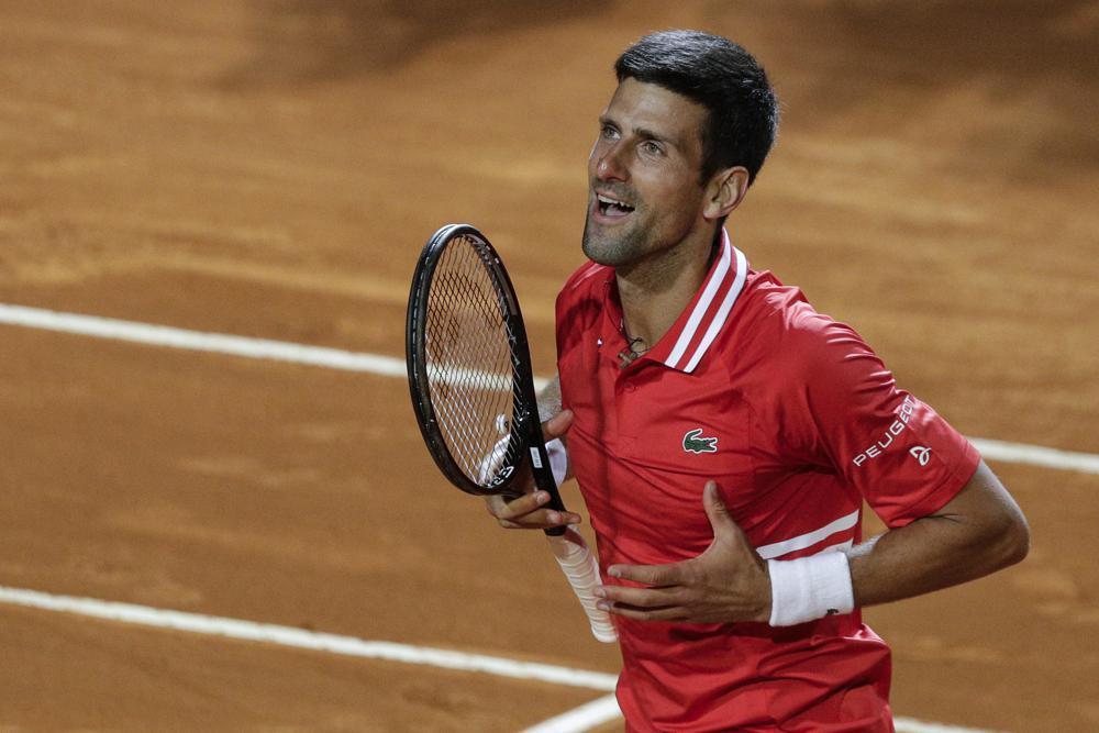 Djokovic bertarung selama hampir lima jam pada 15 Mei.  Foto: AP.