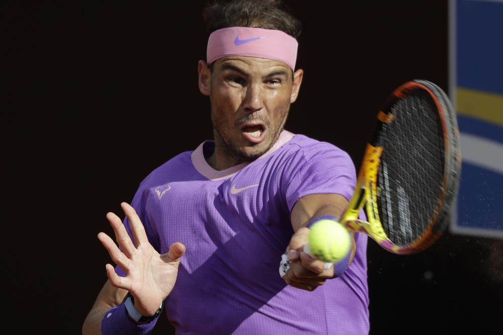 Nadal tidak kalah dalam satu pertandingan servis melawan Opelka.  Foto: AP.