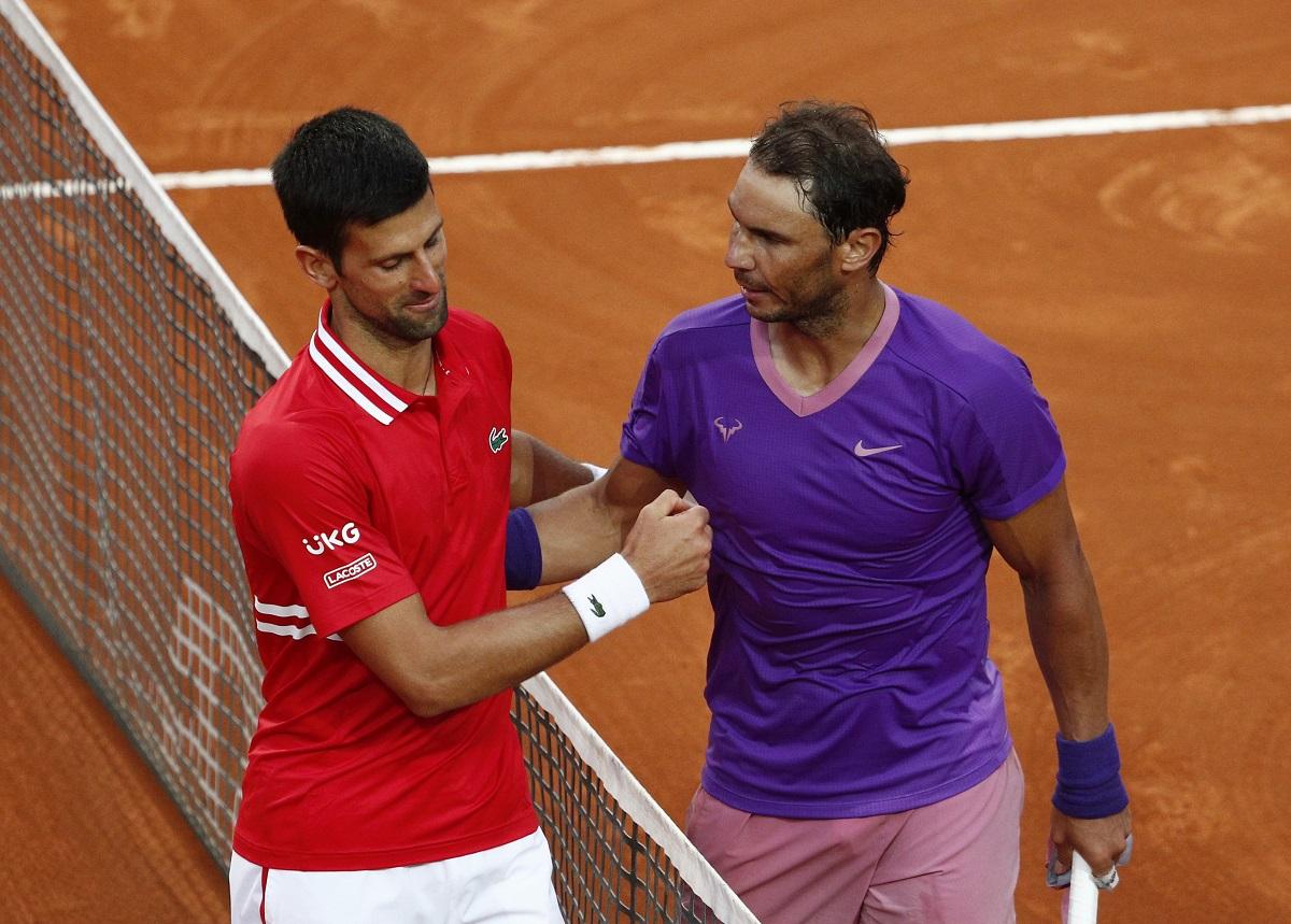 Nadal dan Djokovic telah bertemu 57 kali, dengan 29 kemenangan untuk petenis Serbia itu.  Foto: ATP.