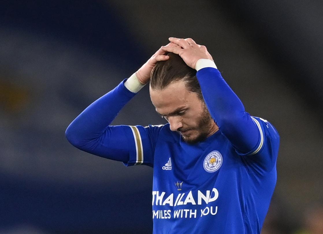 Leicester từng rơi từ vị trí thứ ba xuống thứ năm ở giai đoạn cuối Ngoại hạng Anh 2019-2020. Ảnh: Sky.